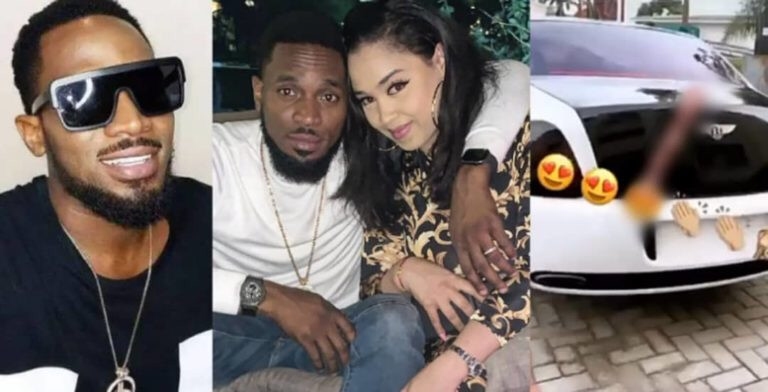 Dbanj, Dbanj Buys His Beautiful Wife A Bentley (Photo)