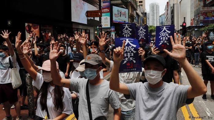 China, Thousands protest in Hong Kong over China security law proposal