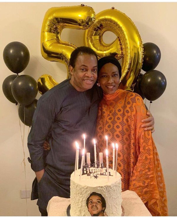 Donald Duke's 59th Birthday Cake Made By His Wife, With His Face On It