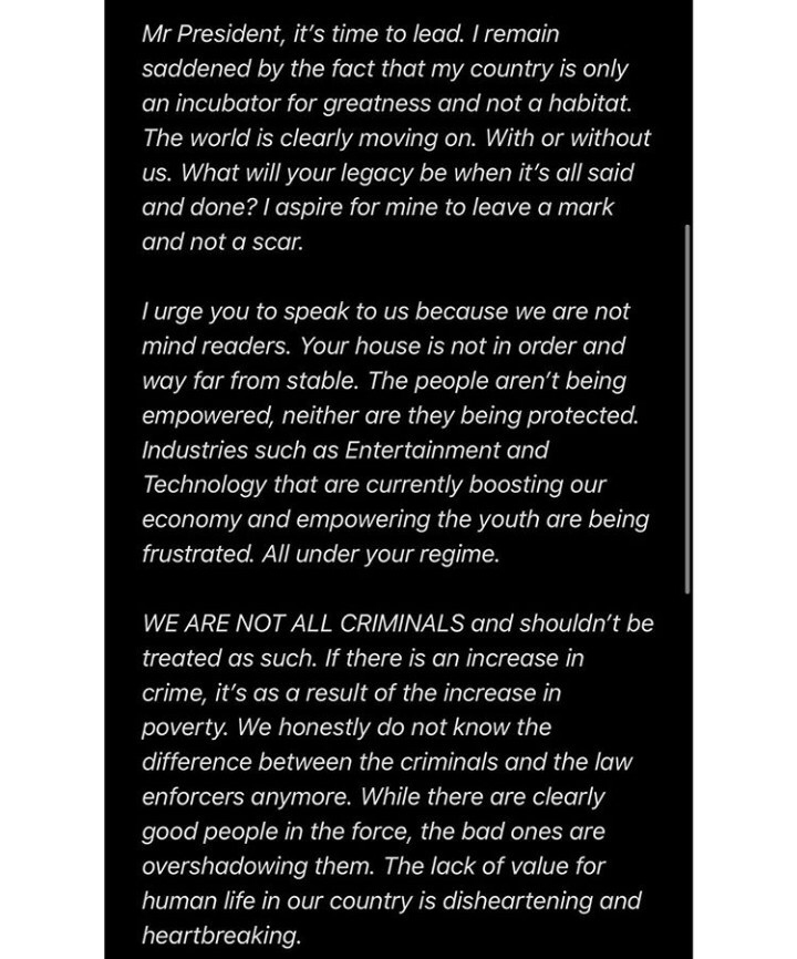 Genevieve Nnaji, Genevieve Nnaji Writes Open Letter To Buhari, Asking Him To End SARS Brutality (Photos)