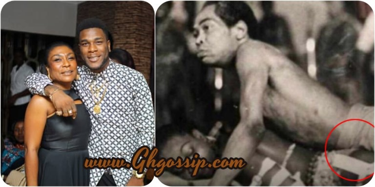 Fela Kuti, Throwback Photo Of Fela Kuti Using His Joystick To Rock Burna Boy's Mother Surfaces Online