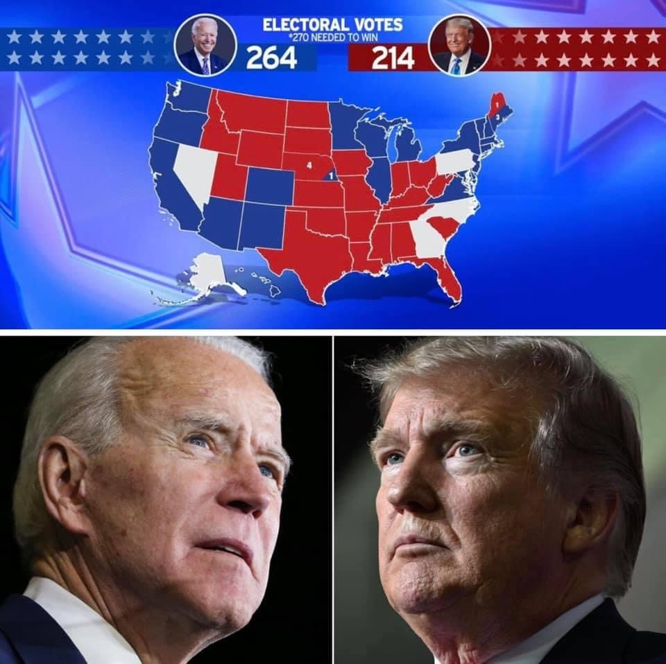 US Election result, US Election Results 2020: Biden nears 270 with just 5 states left to make a call.