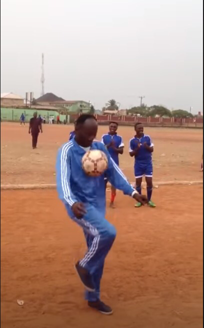 Apostle Johnson Suleman, Apostle Johnson Suleman Shows His Football Skills