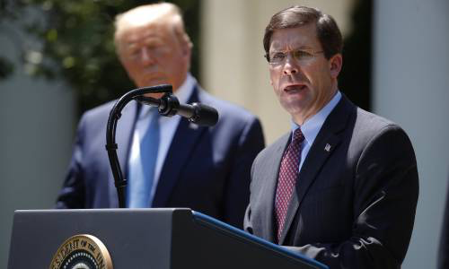 Trump, Mark Esper To Resign As Trump's Defense Secretary