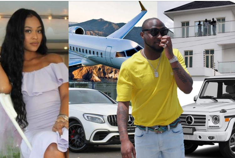 "Davido and wife, ""Davido Will Lose All His Properties To His American Wife, If He Divorces Her"" – IG Lady Reveals"