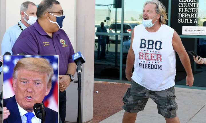 Donald Trump's Fan Storms Press Conference To Accuse Joe Biden Of Stealing (See Video)