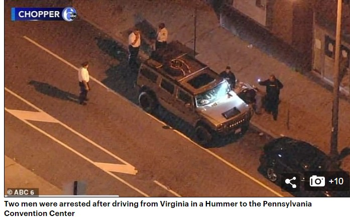 Two armed men, US Election: Police Find Vehicle With Guns As Men Plan To Attack Election Centre